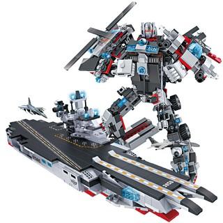 Đồ chơi xếp hình lắp ráp Robot và tàu chiến Mech 8 trong 1 với hơn 1000 chi tiết SHAN13020 Blockbuilding