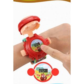 Đồng hồ điện tử FREESHIP Đồng Hồ Hoạt Hình Chiếu Hình, Dành Cho Trẻ Em Xinh Xắn Dễ Thương 5606