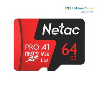 [Mã ELFLASH5 giảm 20K đơn 50K] Thẻ nhớ Micro SDXC Netac 64GB U3 - Hàng chính hãng