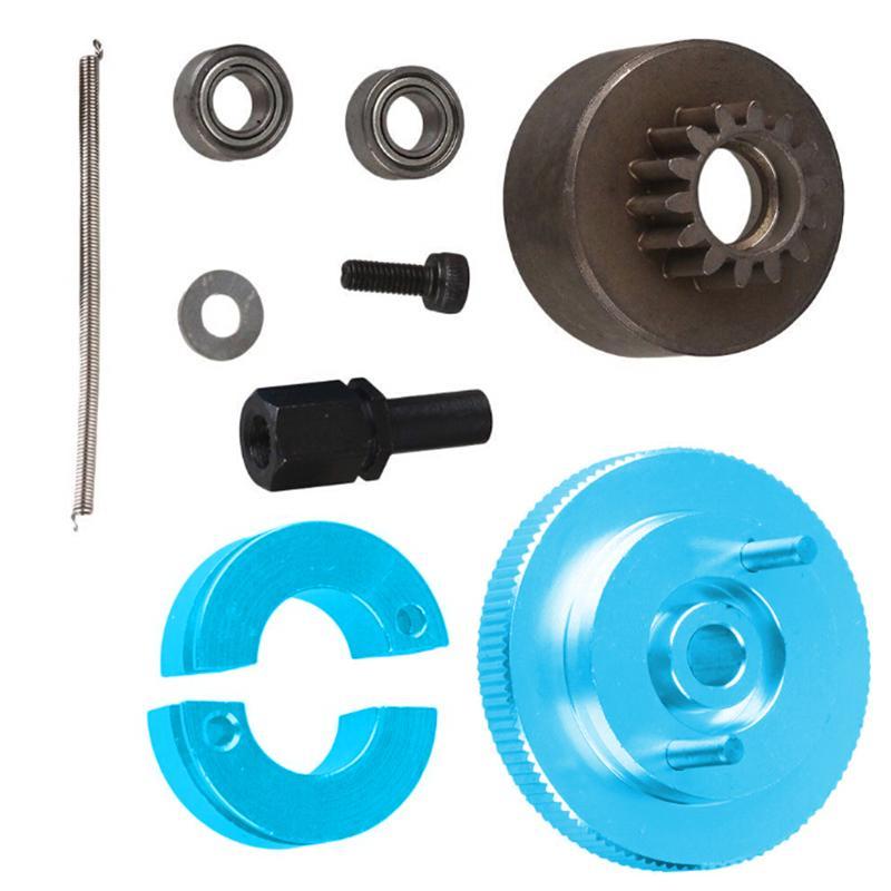 RC 1:10 Car Upgrade Parts Silver Aluminum Alloy 14T Clutch Flywheel Set T10096