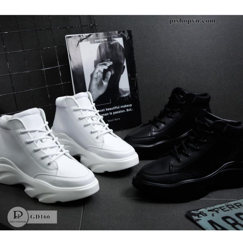 Giày Da Thể Thao Nam Hàng Đẹp - Tặng Kèm Tất Khử Mùi Fullboxx GD166 SneakerNam
