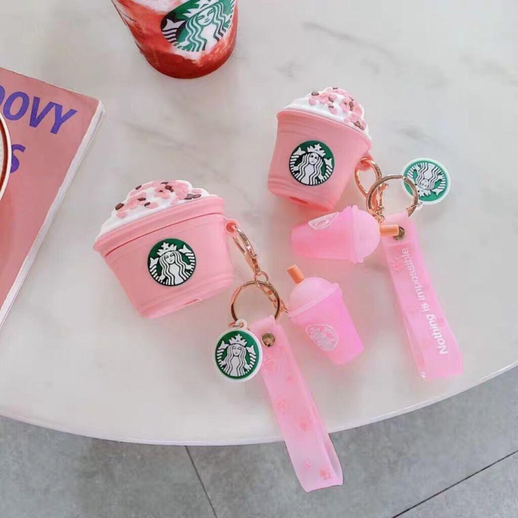 Vỏ bảo vệ hộp sạc tai nghe Airpods hình logo Starbucks độc đáo