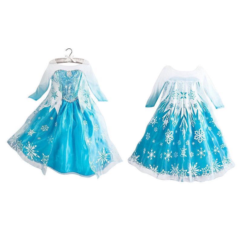 Đầm công chúa băng giá hóa trang cho bé gái