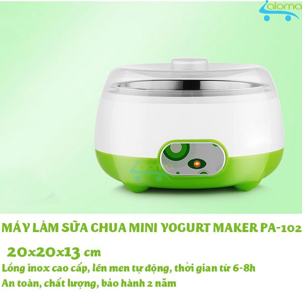 Máy làm sữa chua mini lồng inox 1 lít Yogurt Maker PA-102
