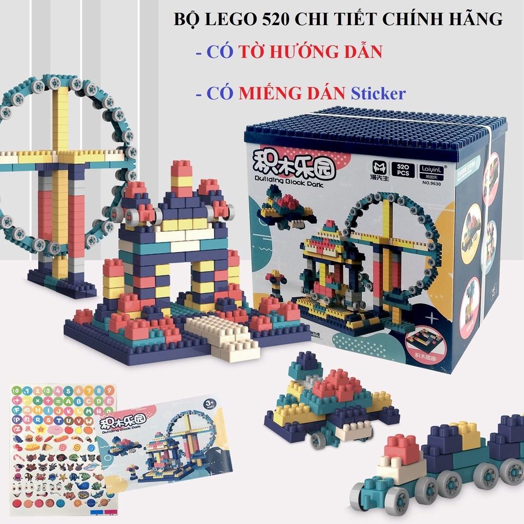HỘP LEGO 520 CHI TIẾT SÁNG TẠO CÙNG BÉ YÊU ( ĐIỆN MÁY NỘI ĐỊA TRUNG )