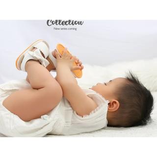 Giày sandal tập đi cao cấp cực chất đế cao su chống trơn trượt chất da mềm mại đính nơ dễ thương cho bé gái.Loại 1 6