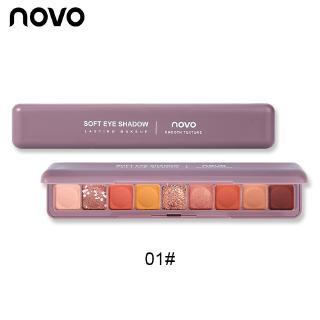 Bảng phấn mắt NOVO 9 màu nhũ và lì thời trang nổi bật