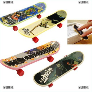 1X Mini Finger Board Skateboard Novelty Kids Boys Girls Toy Gift for Party 3.7″ [MULINHE]