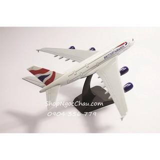 Mô hình máy bay tĩnh A380 British airways 20cm