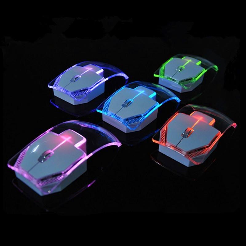 Chuột quang không dây co dây không âm thanh không gây ồn kiểu dáng trong suốt tự động đổi mau nhỏ gọn nhẹ tiết kiệm pin