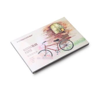 Sổ vẽ màu nước bìa xe đạp A5