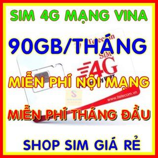 Sim 4G Vina gói 3Gb/ngày (90gb/tháng) hãng Itelecom + Gọi nội mạng Vinaphone miễn phí - Giống như sim 4G Vinaphone VD89P