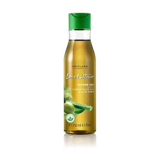 Sữa tắm Love Nature Shower Gel Caring Olive Oil & Aloe Vera.