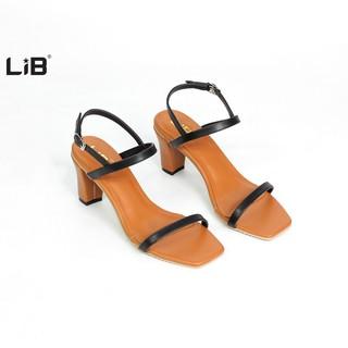 LiB - Giày Sandal Quai Mảnh Gót Vuông 7cm Công Sở S511