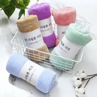 Khăn mặt lông cừu 30x50cm kiểu Hàn Quốc, siêu thấm nước – khăn xuất Hàn (có video test nước)