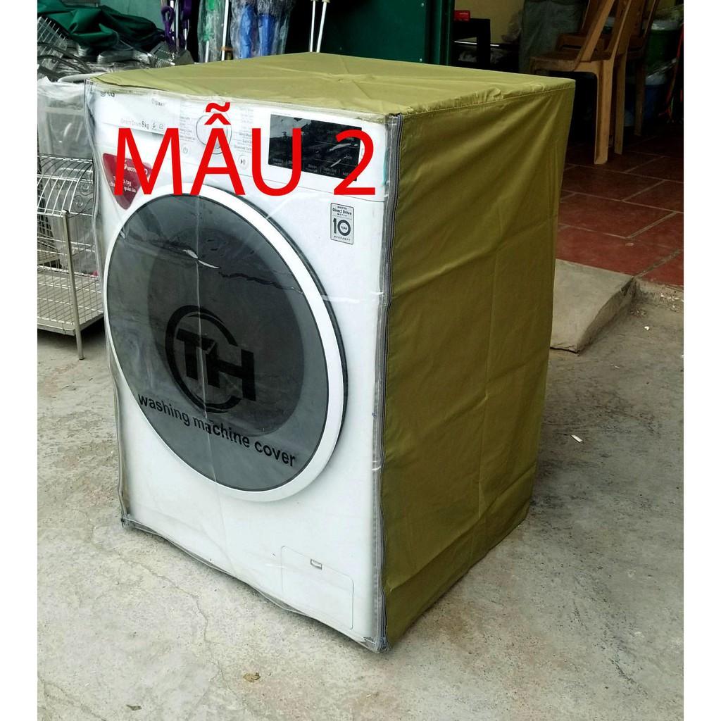 Áo trùm máy giặt - vỏ bọc máy giặt cửa ngang vải dù siêu bền