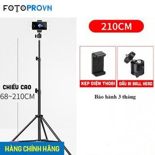 Chân đèn livestream,chân đèn flash dùng chụp ảnh quay phim chiều cao 2m1 - hàng chính hãng Refutuna