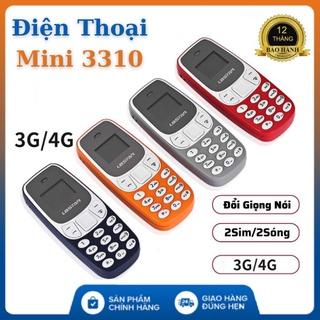 Điện thoại Nokia mini 3310 siêu nhỏ 2 sim 2 sóng,hỗ trợ blutooth,mp3,thẻ nhớ,thay đổi giọng nói thumbnail