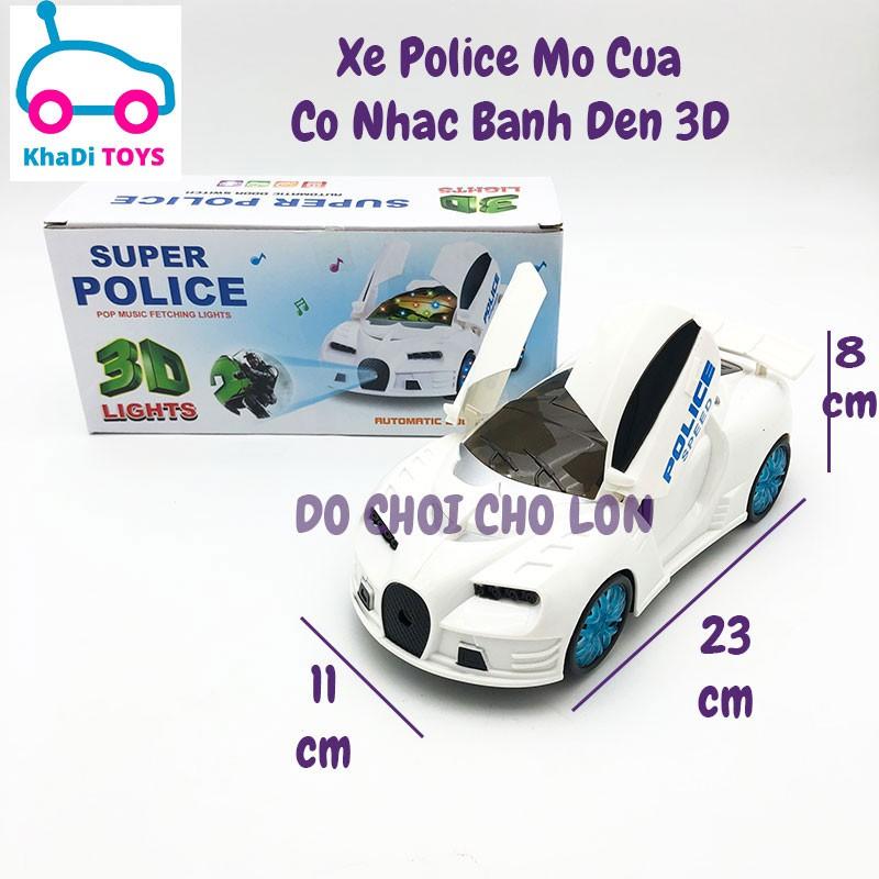 Đồ chơi xe ô tô Police mở cửa chạy pin đèn Led 3D nhạc 500-23 – KhaDiTOYS