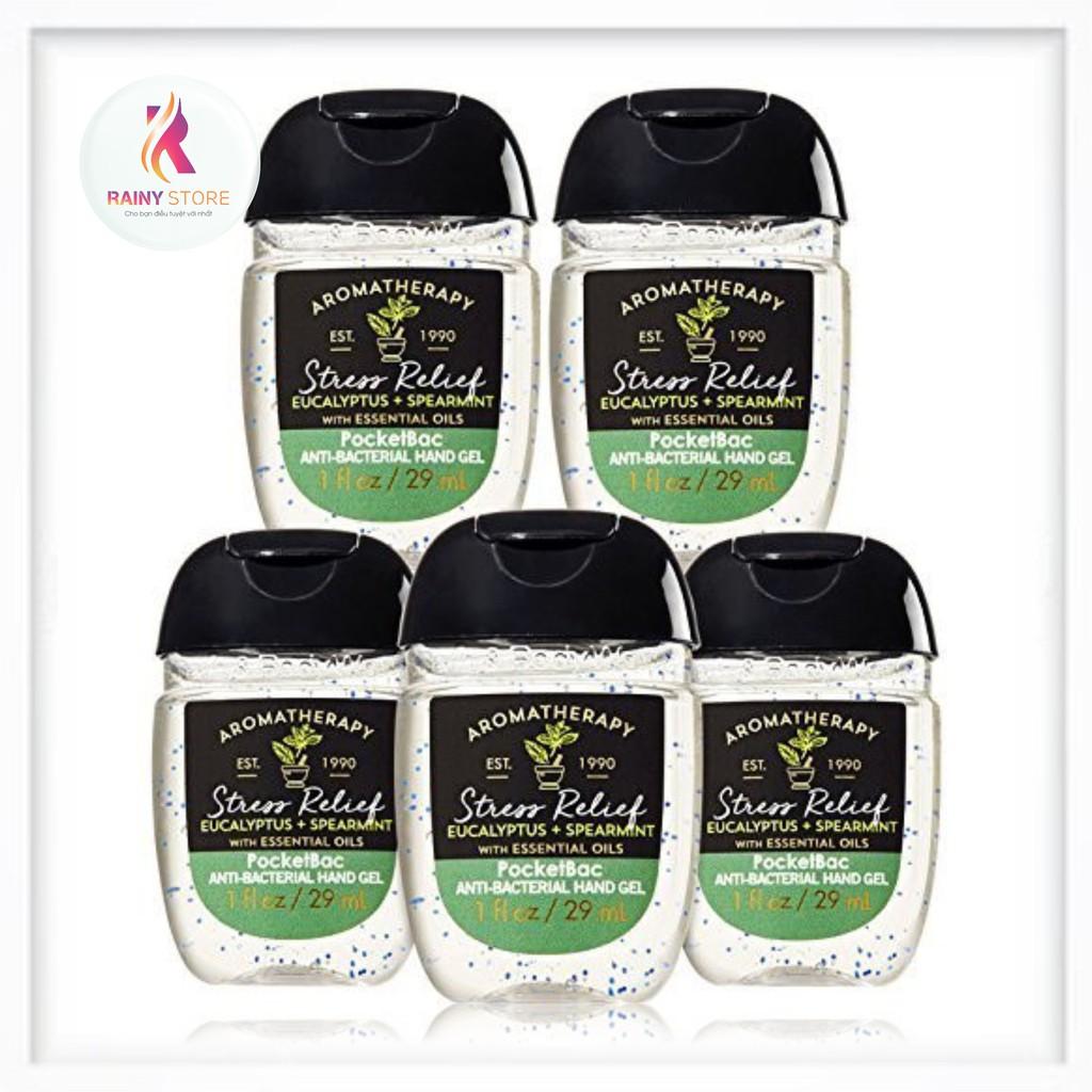 Gel rửa tay khô thư giãn Bath & Body Works Aromatherapy Stress Relief Eucalyptus + Spearmint 29ml