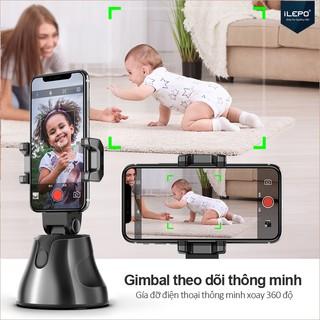Gimbal theo dõi thông minh Gía đỡ điện thoại thông minh xoay 360 độ ,Nhận diện khuôn mặt,Bảo hành 1 năm APAI GENIE