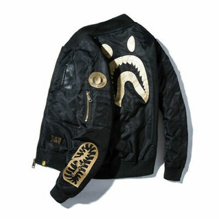 Review Áo BOMBER Bape Shark