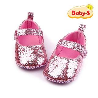 Giày tập đi cho bé từ 0 18 tháng tuổi quai dán tiện lợi cho bé tập đi hoạ tiết kim tuyến đơn giản Baby-S STD13 thumbnail