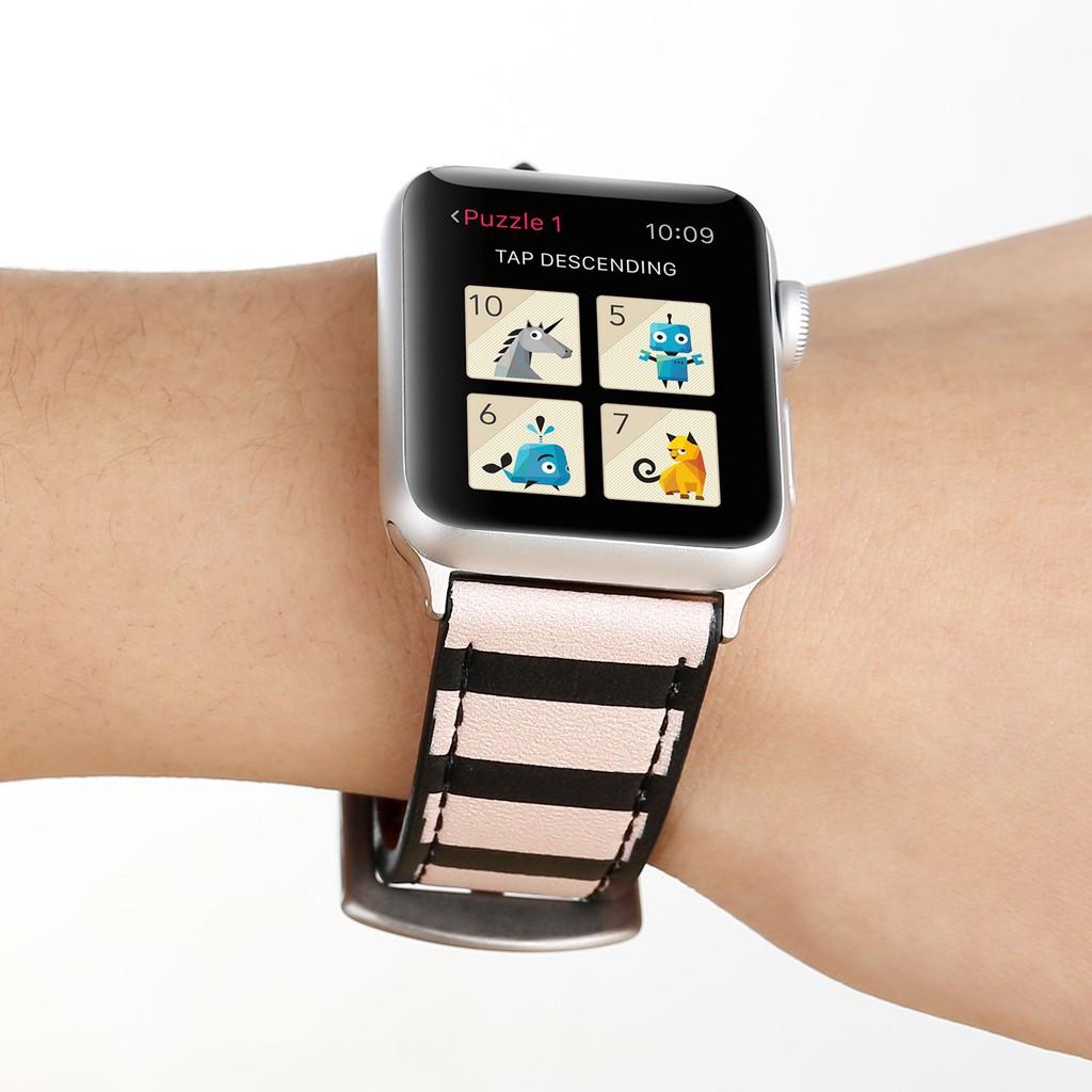 Dây đeo bằng da cho đồng hồ thông minh Apple Watch 38mm / 42mm 3 / 2 / 1
