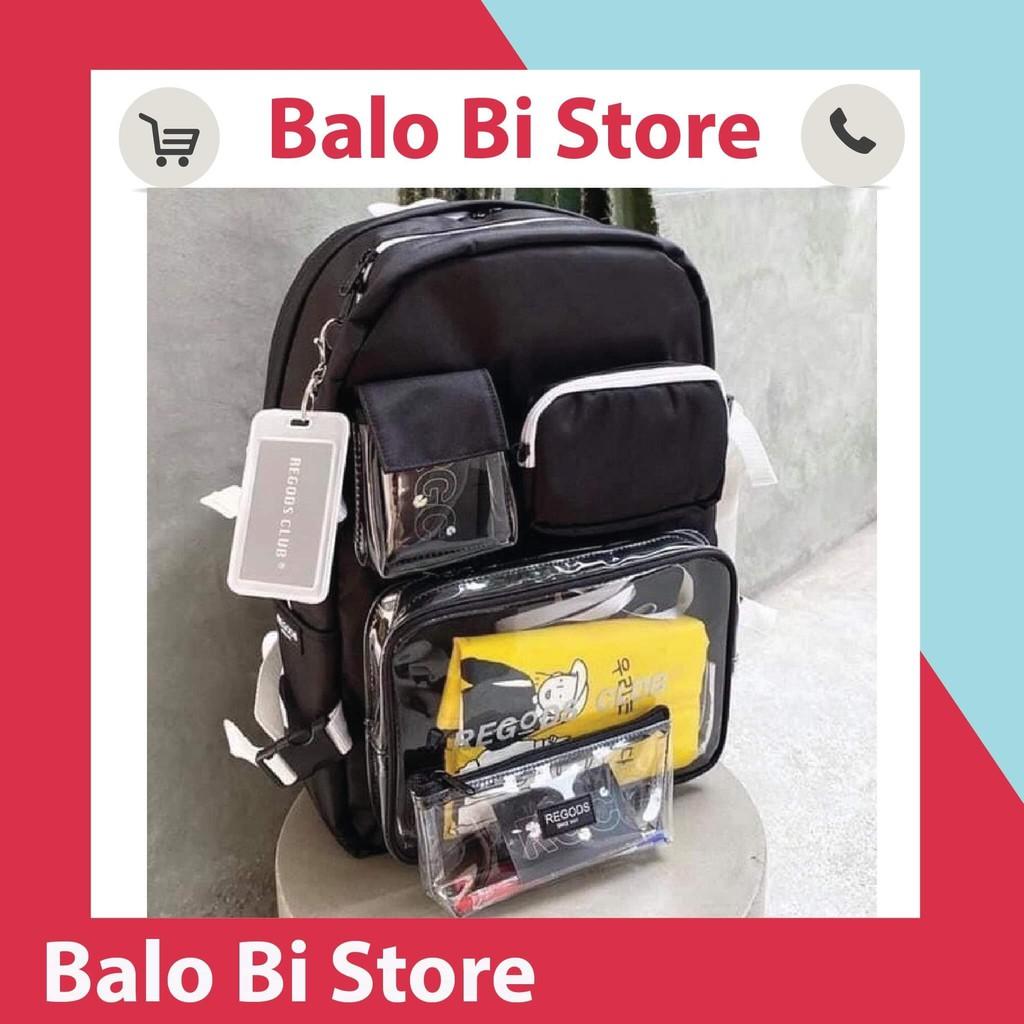Balo Regods thời trang nam nữ đẹp đi học tặng hộp bút , full phụ kiện tag tote ( vàng/xanh ) + giấy thơm