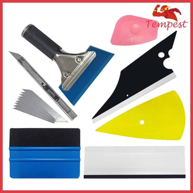 8pcs / set car glass protective film Window Wrapping Installation Tool
