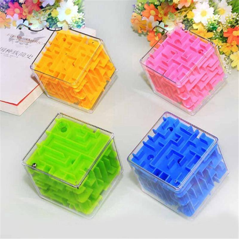 Mini Maze Magic Cube Cubos Early Childhood Educational Intelligence Gift Magique