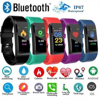 Vòng đeo tay thông minh ID115 Plus có màn hình LCD màu đo nhịp tim/đếm bước tiện lợi