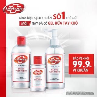 [ LIFEBOUY] Gel diệt khuẩn rửa tay khô Lifebouy Bảo Vệ Vượt Trội 10 (Chai 50ml 100ml 235ml 500ml) thumbnail