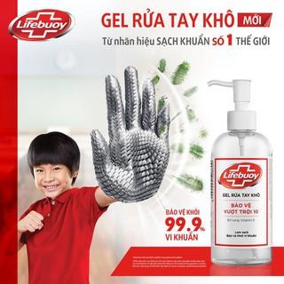 Gel rửa tay khô sạch siêu nhanh Lifebuoy bảo vệ vượt trội 10 (Chai vòi 235ml)-2
