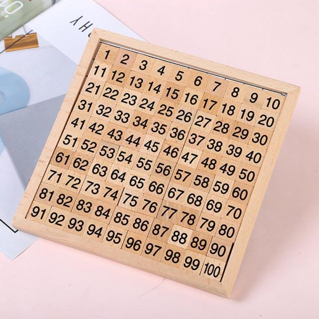 Bảng gỗ tập đếm số giáo cụ montessori. Giá thanh lý