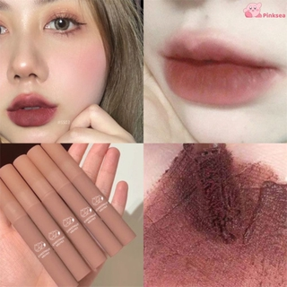 Daimanpu Chestnut Velvet Matte Liquid Lipstick Waterproof Lip gloss Long Lasting Nude Lipstick Women Red Lip Tint Beauty Cosmetic pinky