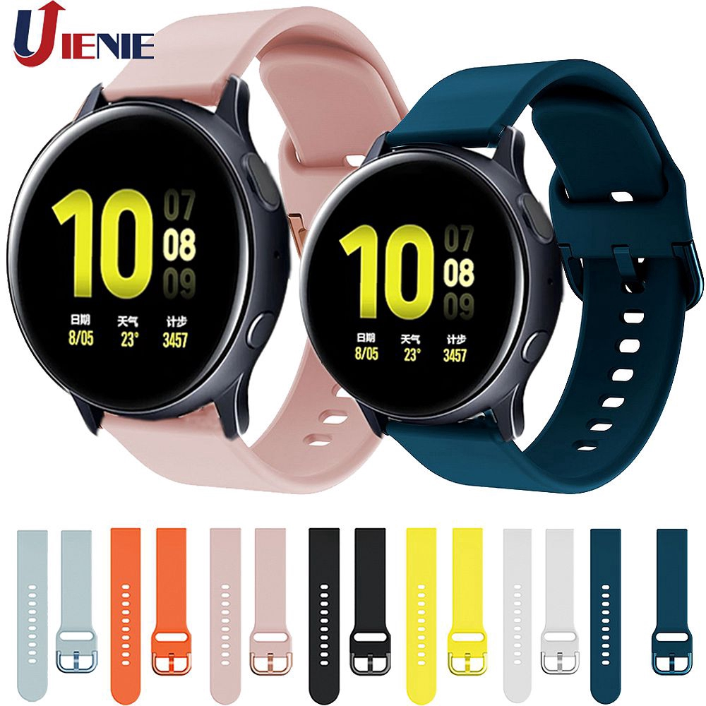 Dây đeo silicon 20cm thay thế cho đồng hồ Samsung Galaxy Watch Active 2 40/44mm