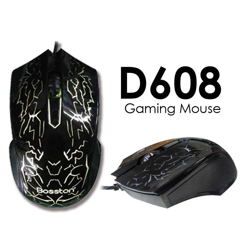 Combo Chuột Game Bosston D608 + Tặng Kèm Bộ Vệ Sinh 4 Món & Lót rz