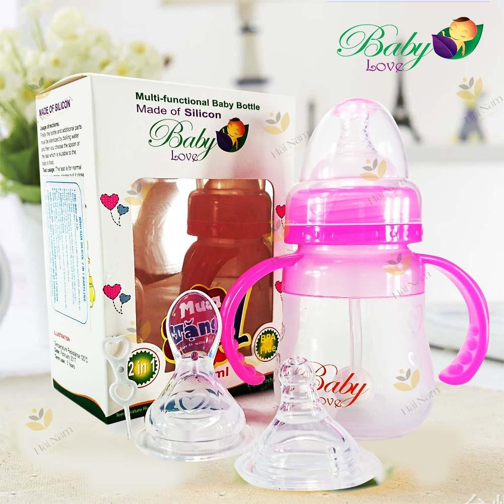 Bình sữa Baby Love 150ml 2 in 1 (tặng thêm 1 núm ty)
