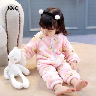 baby Baby Girls Pajamas New product Home set England soft READY STOK Children's Clothes Set Breathable Coral fleece Cu