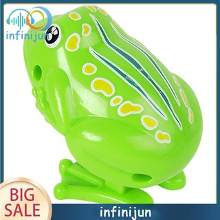 2019 Wind Up Clockwork Frog Toy Mini Pull Back Jumping Frog Toys Baby Kids Toys for Children Boys