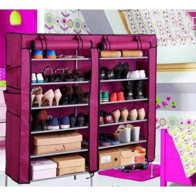 Tủ vải đựng giày dép đa năng 6 tầng 12 ngăn