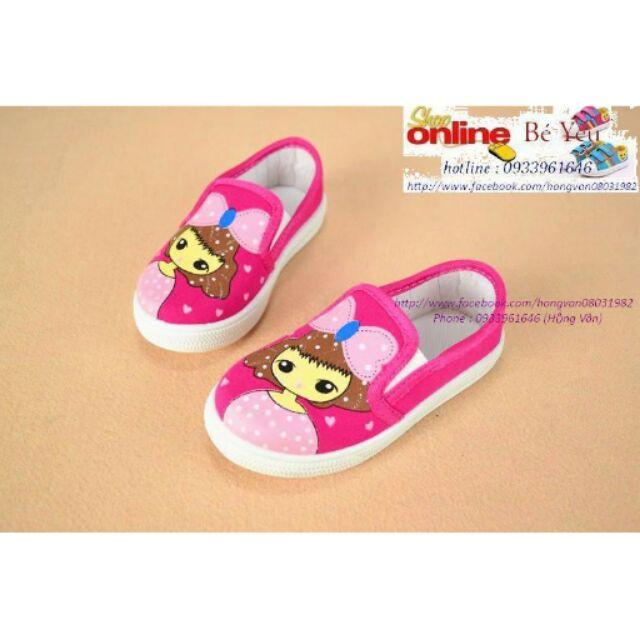 Giày bata vải dành cho bé gái