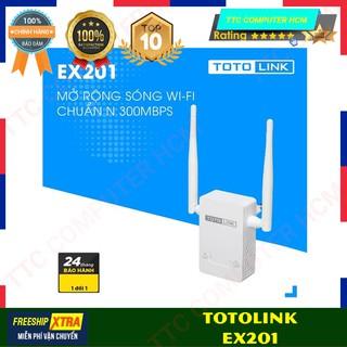 TOTOLINK EX201 EX201 - Bộ mở rộng sóng Wi-Fi chuẩn N 300Mbps - HÀNG CHÍNH HÃNG TTC COPUTER HCM thumbnail