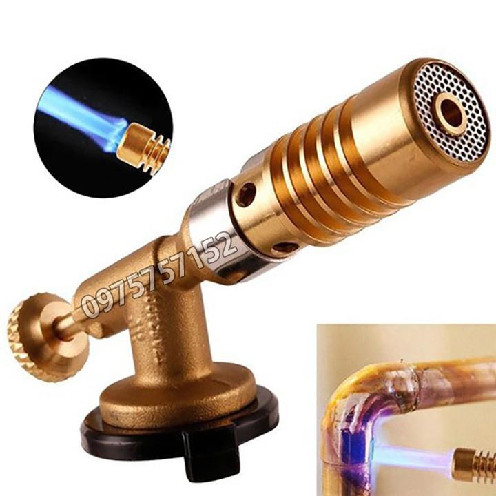 Đèn khò gas cao cấp No.773 Đài Loan, điều chỉnh nhiệt độ 1500 độ C, đồng nguyên khối 100%, hàn ống đồng, chế biến nấu ăn