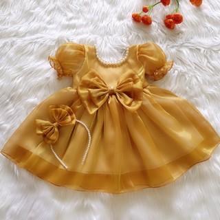 Váy công chúa bồng bềnh siêu dễ thương lụa tơ mềm mại