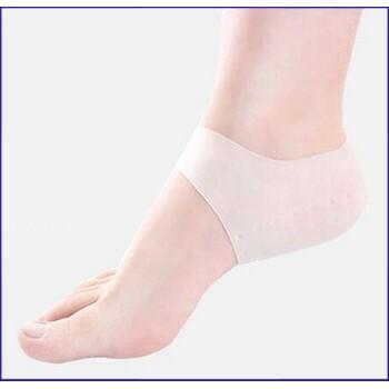 (Cực Sock)Combo 2 bộ miếng bảo vệ gót chân Silicon chống nứt gót - Màu Trắng (2 miếngbộ) bảo vệ gót chấn