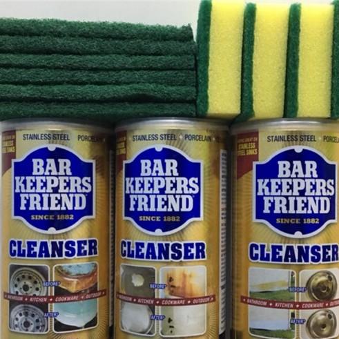 Bột làm sạch - bar keepers friend - làm sạch vách kính, vòi nước, men sứ trắng, bếp từ, xoong nồi,..... bột bkf