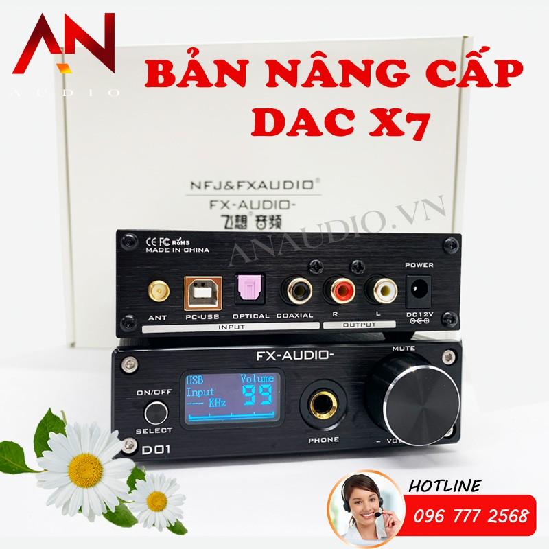 Giải Mã FX-Audio DAC D01 - Bản Nâng Cấp DAC X7- Giải Mã 32 Bit/768Khz/ DSD512