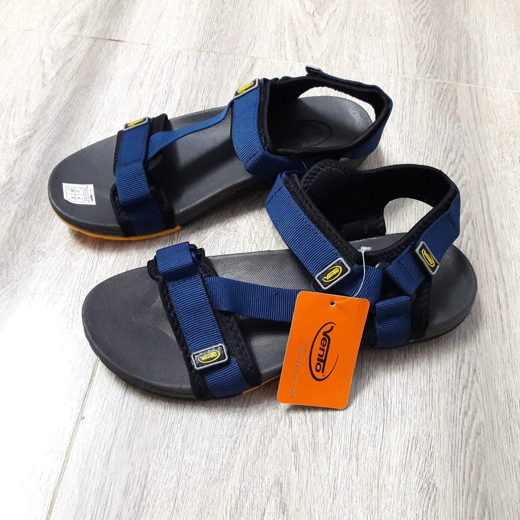 Giày Sandal Nam | Giày Sandal quai ngang chéo xanh chàm